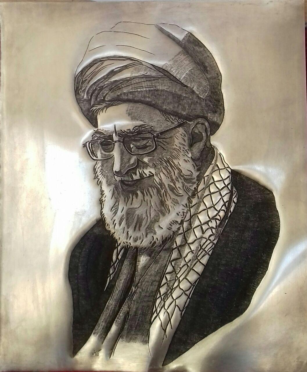 قلم زنی مولا علی | صنایع دستی